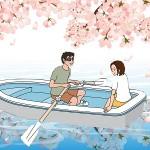 東京の桜をボートから見る!公園でもボート!夜桜もボート!
