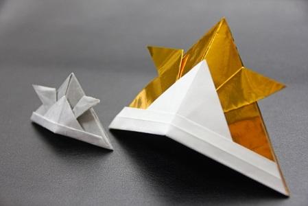 クリスマス 折り紙 兜 作り方 折り紙 : yakudatsu-site.com