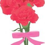 母の日カーネーションの折り紙での作り方。立体・花束の折り方。